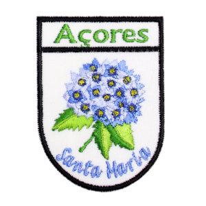 Emblemas Locais Hortênsia Azul Santa Maria Açores Portugal