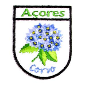 Emblemas Locais Hortênsia Azul Corvo Açores Portugal