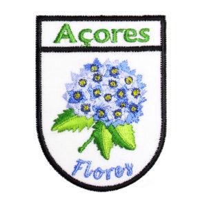 Emblemas Locais Hortênsia Azul Flores Açores Portugal