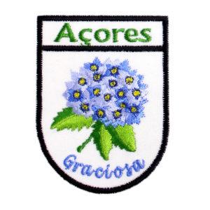 Emblemas Locais Hortênsia Azul Graciosa Açores Portugal