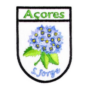 Emblemas Locais Hortênsia Azul São Jorge Açores Portugal