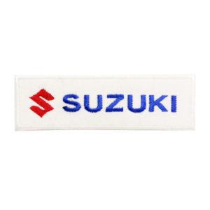 Emblemas Motard Marca Suzuki Rect. Peq. Branco