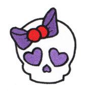 Emblema Boneca caveira com laço violeta
