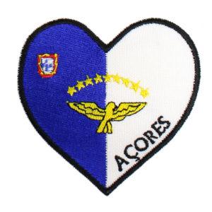 Emblema Coração Bandeira Açores