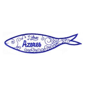 Emblema Sardinha Azul I Love Azores