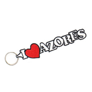 Porta-chaves Branco I LOVE AZORES