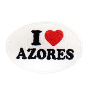 Emblema oval Branco I Love Azores
