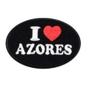 Emblema oval Preto I Love Azores