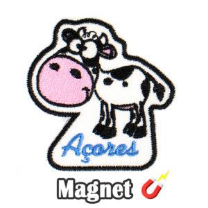 Emblema magnético Bordado Vaquinha dos Açores (Íman)