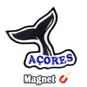 Emblema magnético Bordado Cauda da Baleia Açores (Íman)