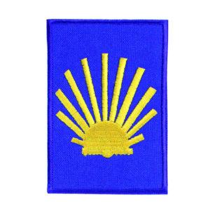 Emblema Bordado Pôr-do-Sol Caminho Santiago de Compostela