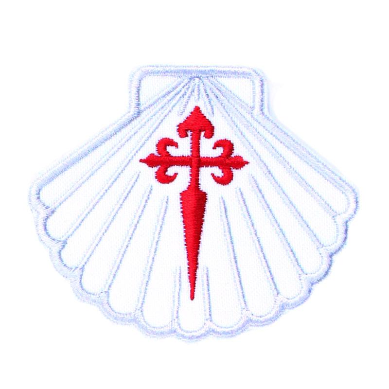 Emblema Bordado Concha com Espada de Santiago