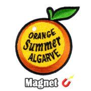 Emblema magnético Bordado Laranja Orange Summer Algarve Portugal (Íman)