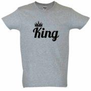 Dia dos Namorados King T-Shirt Cinza Homem