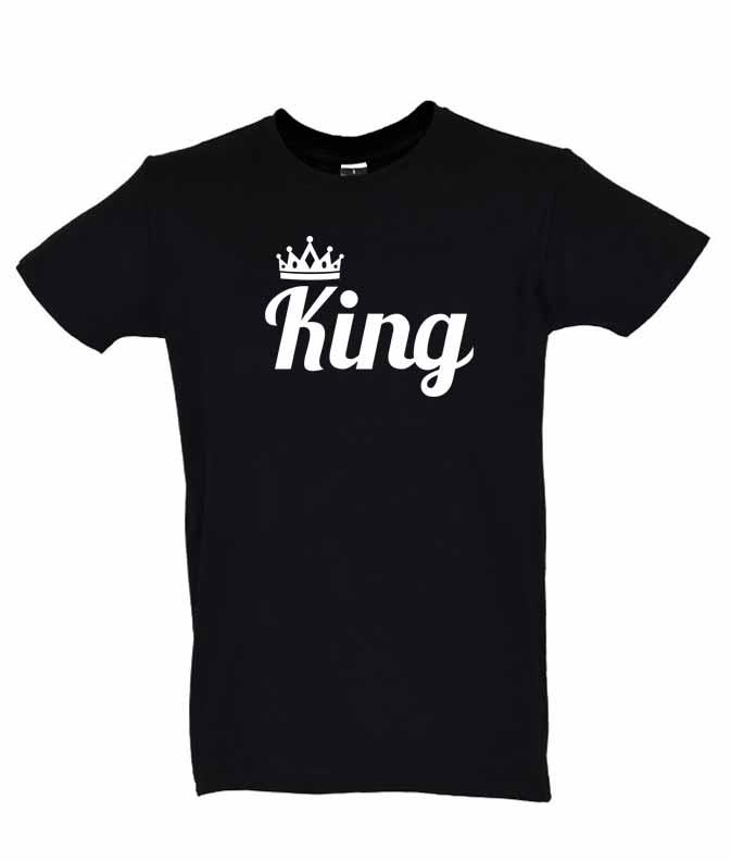 Dia dos Namorados King T-Shirt Preta Homem