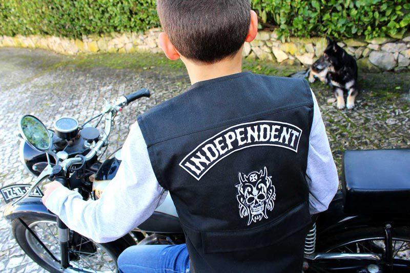 Colete motard criança