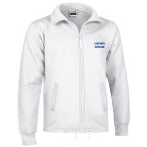 Casaco Branco Personalizado - Felpa Americana para Homem.