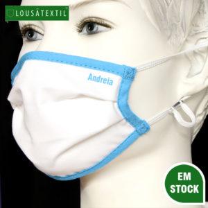 mascara-azul-ceu-elasticos-ajustaveis-personalizadas