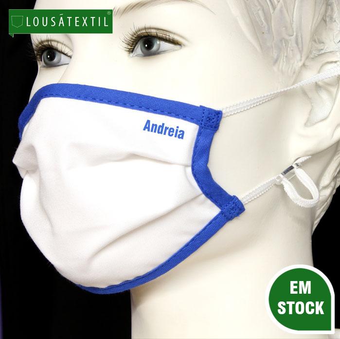 mascara-azul-elasticos-ajustaveis-personalizada