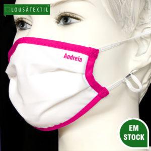 mascara-rosa-elasticos-ajustaveis-personalizada