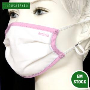 mascara-rosa-palido-elasticos-ajustaveis-personalizada