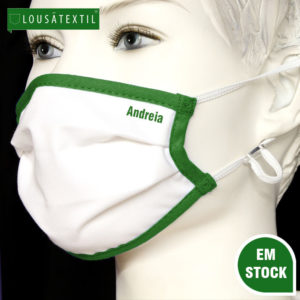 mascara-verde-elasticos-ajustaveis-personalizada