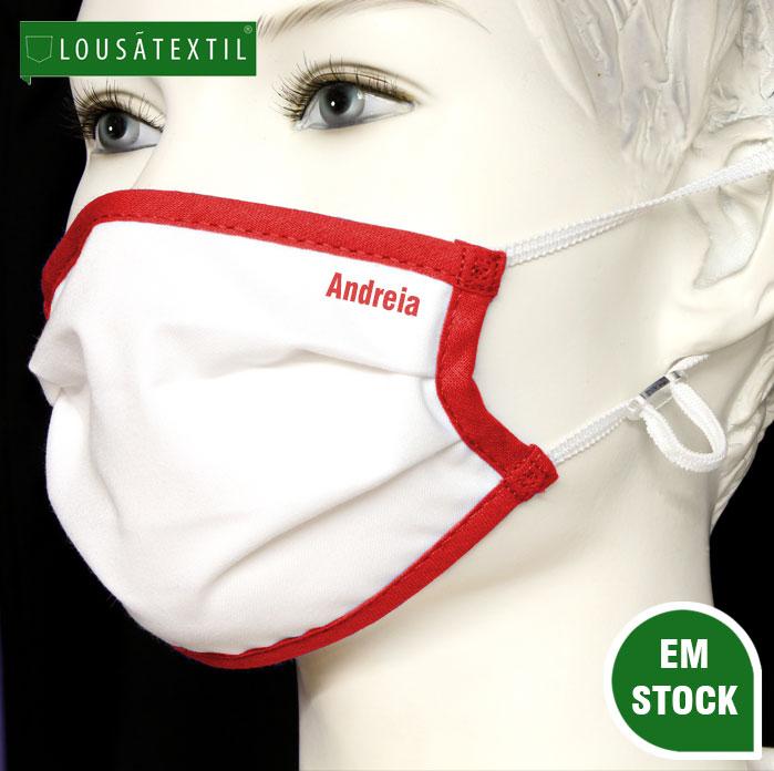 mascara-vermelha-elasticos-ajustaveis-personalizada